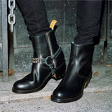 Leather and Chain Bootstraps
