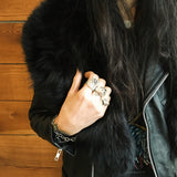 Large Black Fur Stole
