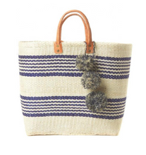 Load image into Gallery viewer, Bohemian straw stripe bag