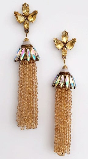 Crystal long earring