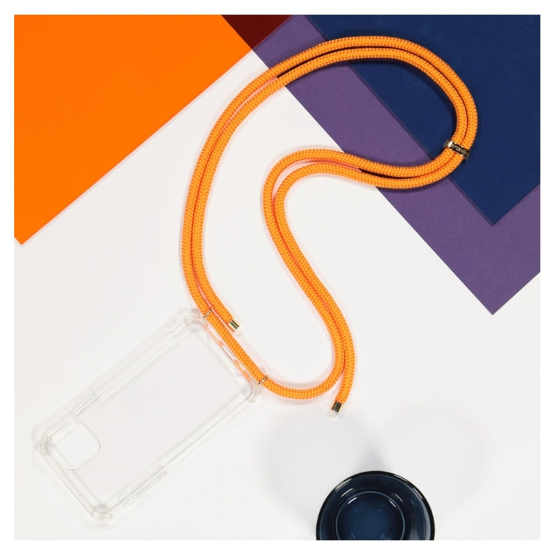 Coque I-Phone avec cordon orange