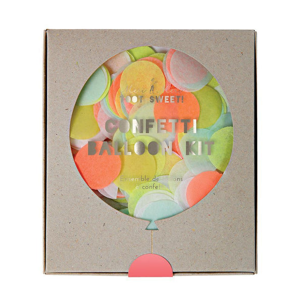 Kit ballon confettis fluo