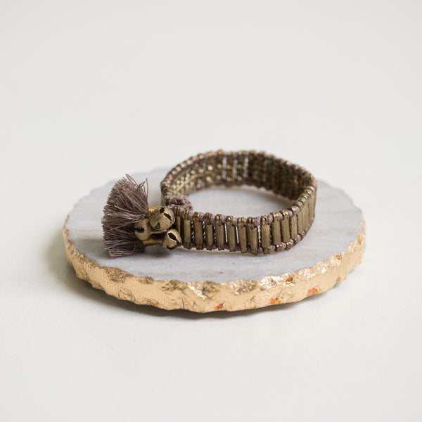 Bracelet india grace taupe
