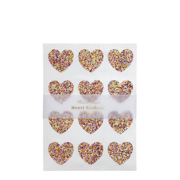 Stickers coeur pailleté