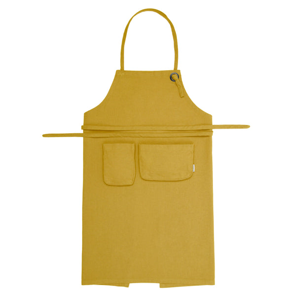 Tablier enfant jaune tournesol en coton bio