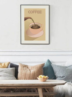 Affiche BUT FIRST COFFEE 30/40 cm