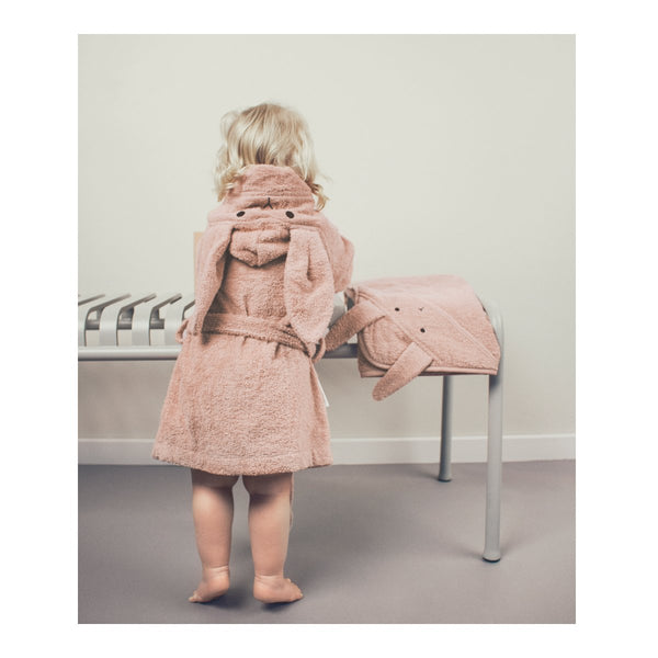 peignoir chat rose en coton bio