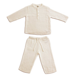 Ensemble Dan Natural en coton bio