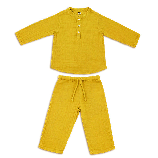 Ensemble Dan sunflower yellow en coton bio