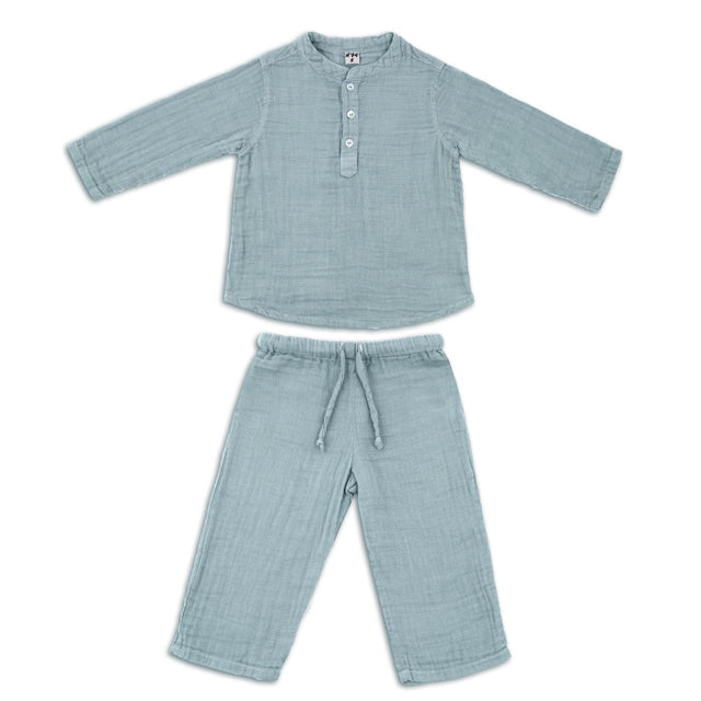 Ensemble Dan sweet blue en coton bio