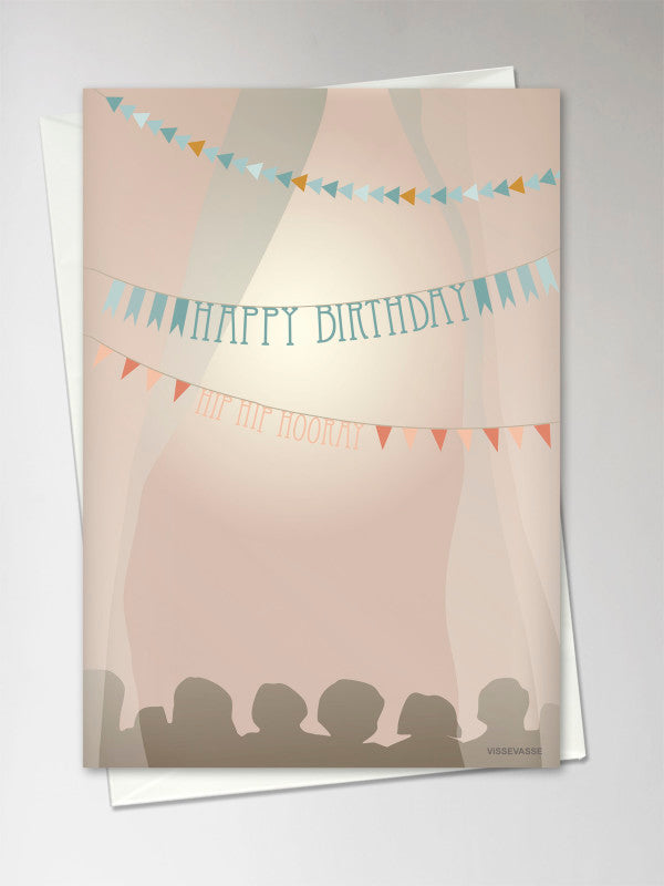 "Carte ""HAPPY BIRTHDAY"" guirlande"