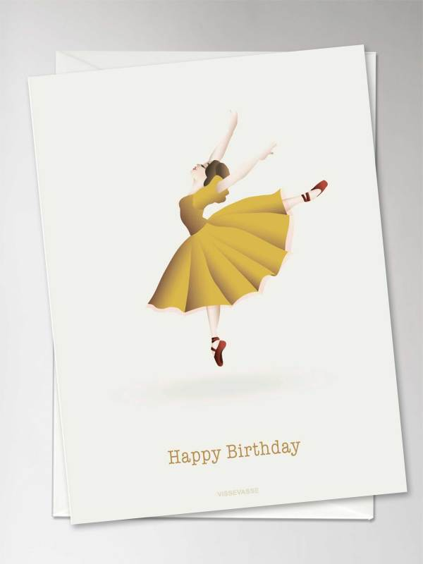 "Carte ""HAPPY BIRTHDAY"" ballerine"