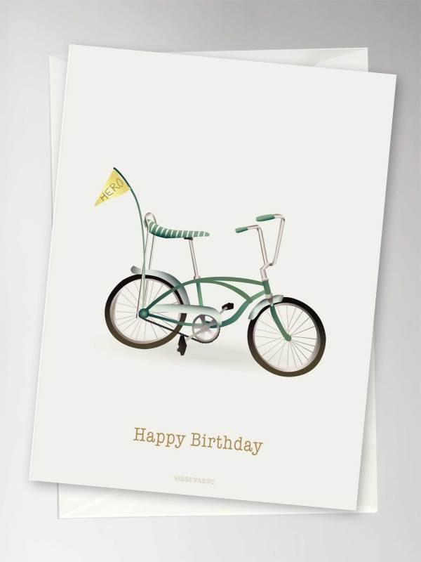 "Carte ""HAPPY BIRTHDAY "" tricycle"
