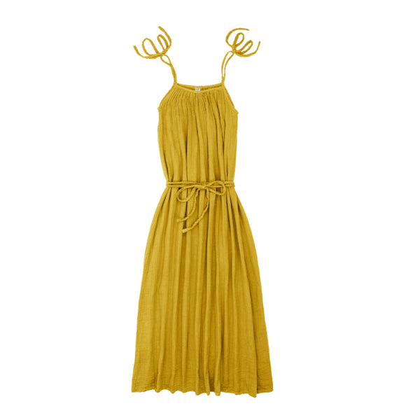 Robe longue Mia femme sunflower yellow en coton bio