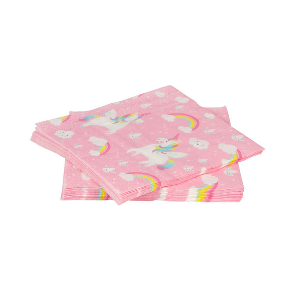 Serviettes licorne rose