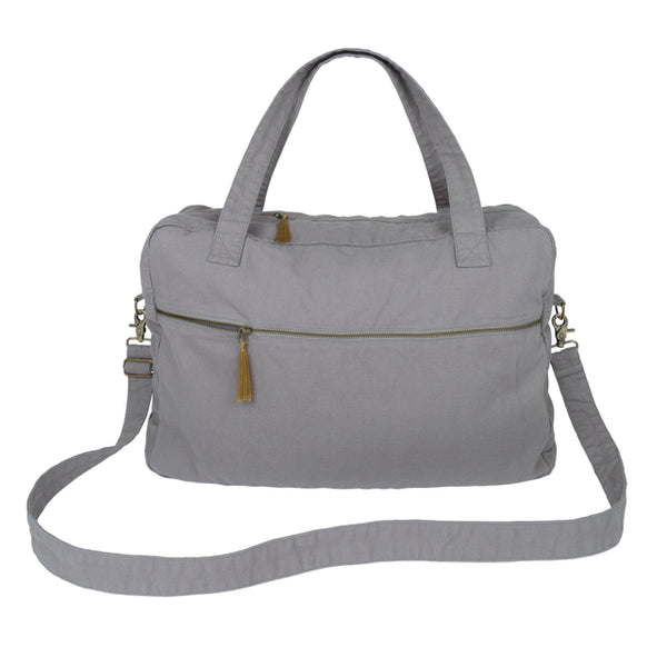 Sac de voyage Week-End stone grey en coton bio