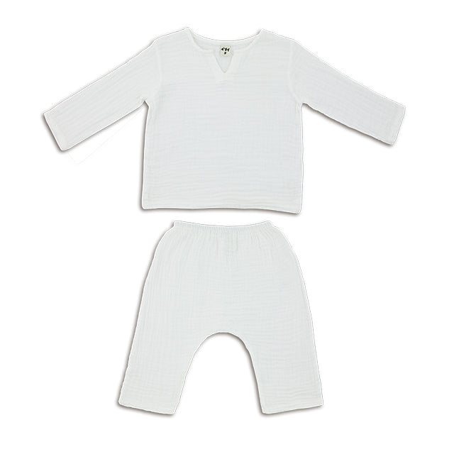 Ensemble Zac white en coton bio