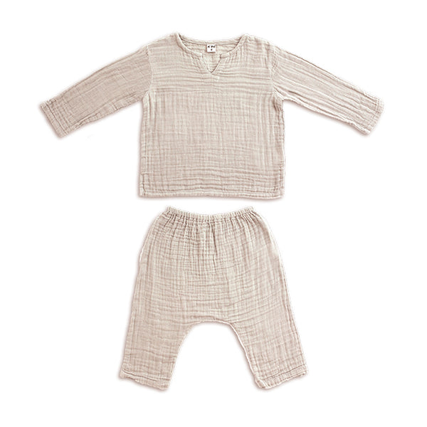 Ensemble Zac powder en coton bio