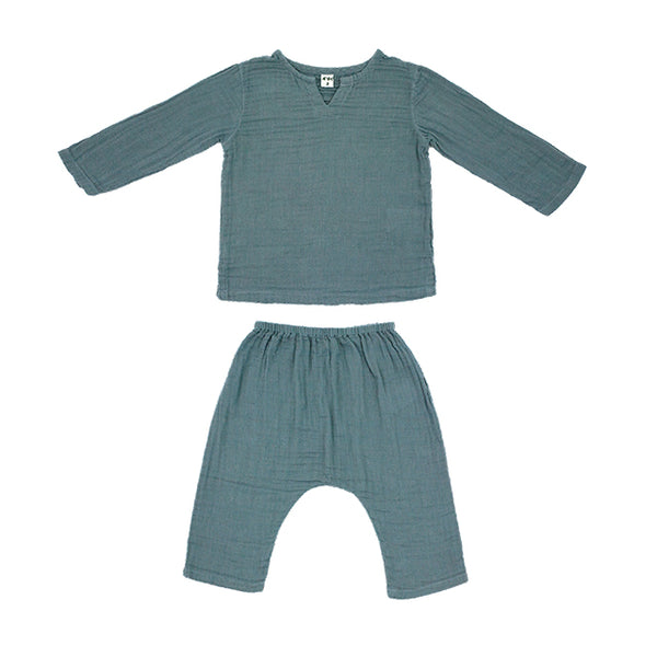 Ensemble Zac ice blue en coton bio