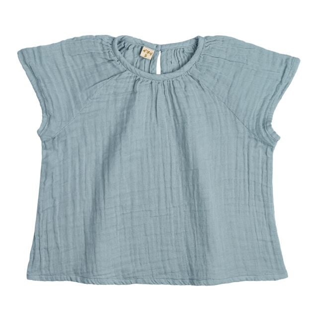Top Clara enfant sweet blue en coton bio