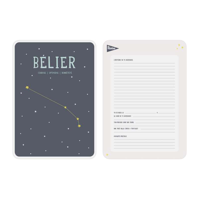 Poster signe zodiacal Belier