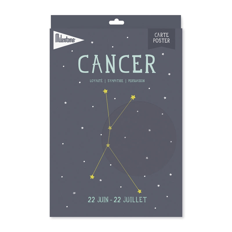 Poster signe zodiacal Cancer