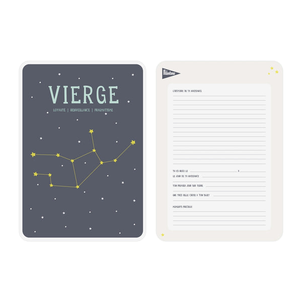 Poster signe zodiacal Vierge