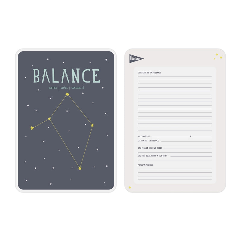 Poster signe zodiacal Balance