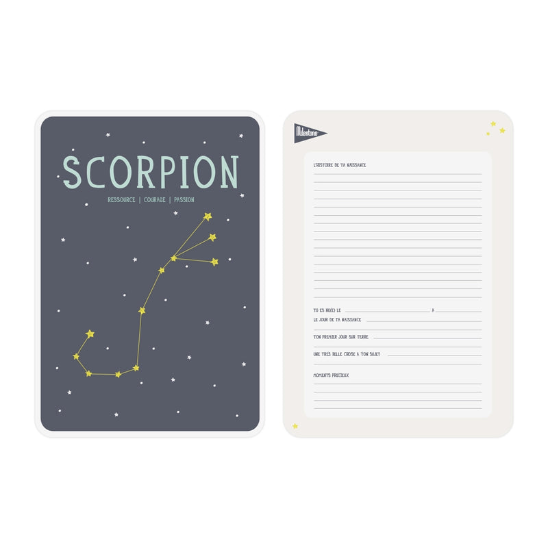 Poster signe zodiacal Scorpion