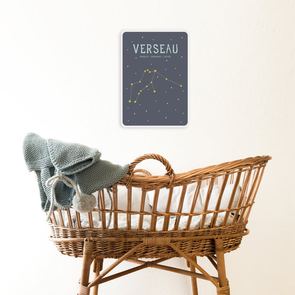 Poster signe zodiacal Verseau