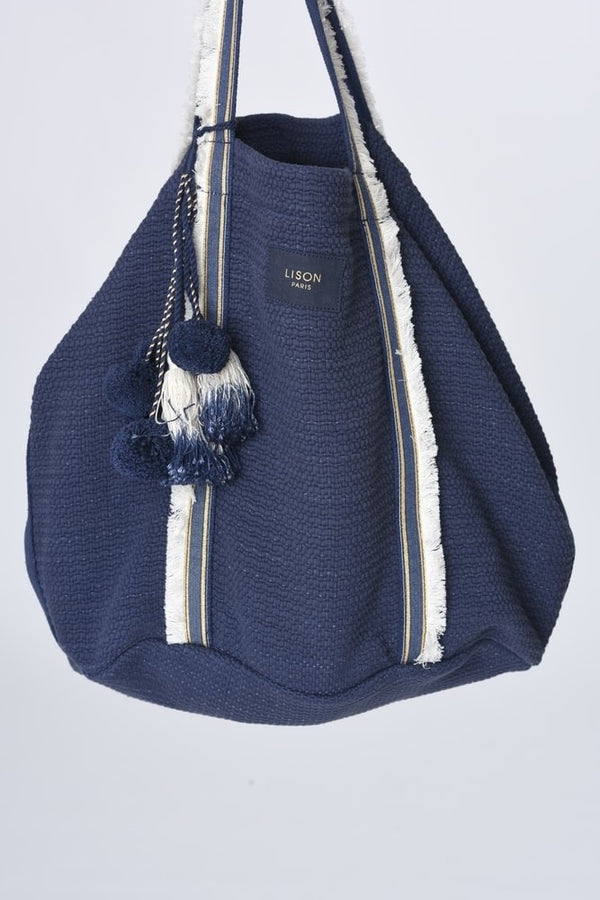 Sac de plage Beach-bag bleu indigo