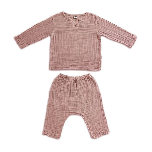 Ensemble Zac dusty pink en coton bio