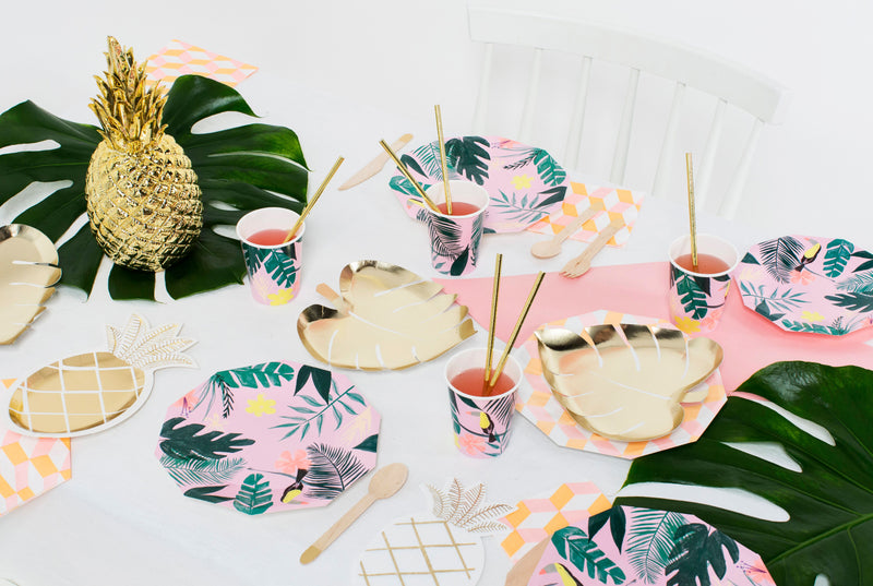 Assiettes en carton tropical