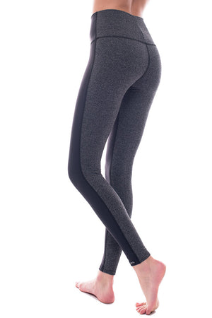 Two tone high rise workout legging grey and black