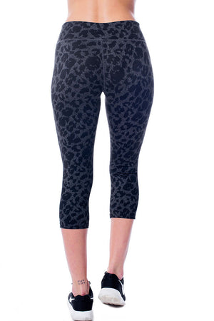 Black Leopard Crop Leggings