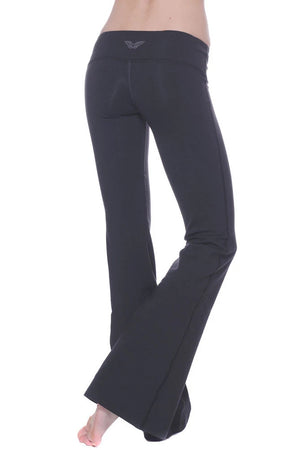 Contrast Stitch Flare Yoga Pants