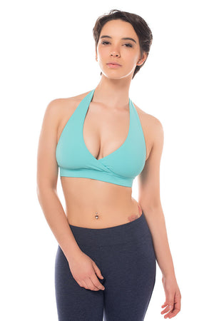 Cross V Halter Bra