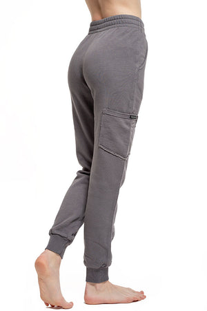 grey organic cotton womens jogger