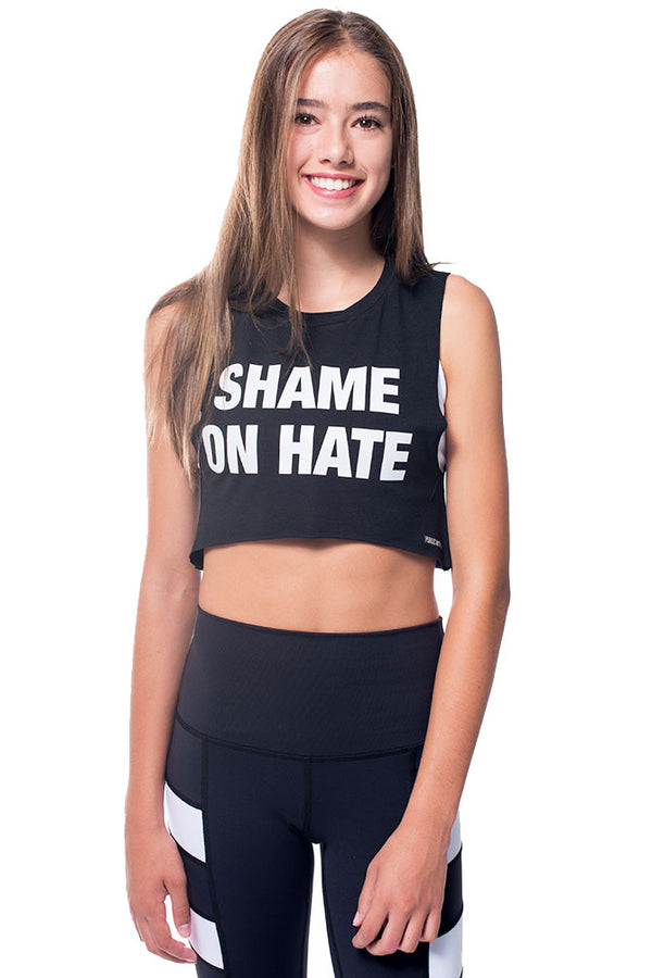 Shame On Hate Muscle Crop Tank