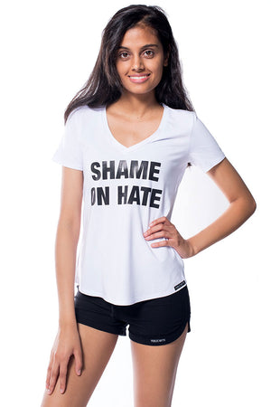 Shame On Hate V Neck T