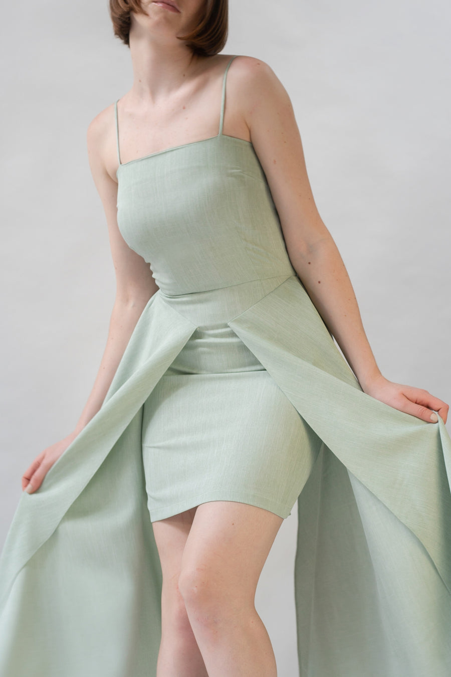 Green Double Flap Dress