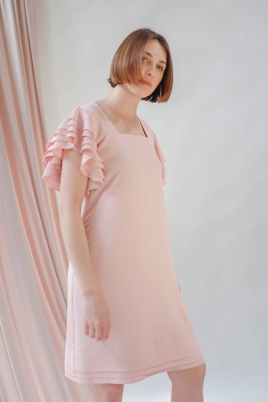 Blush Frilled Dress