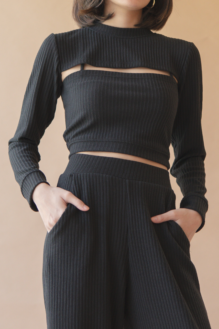 Knit Culottes - Black