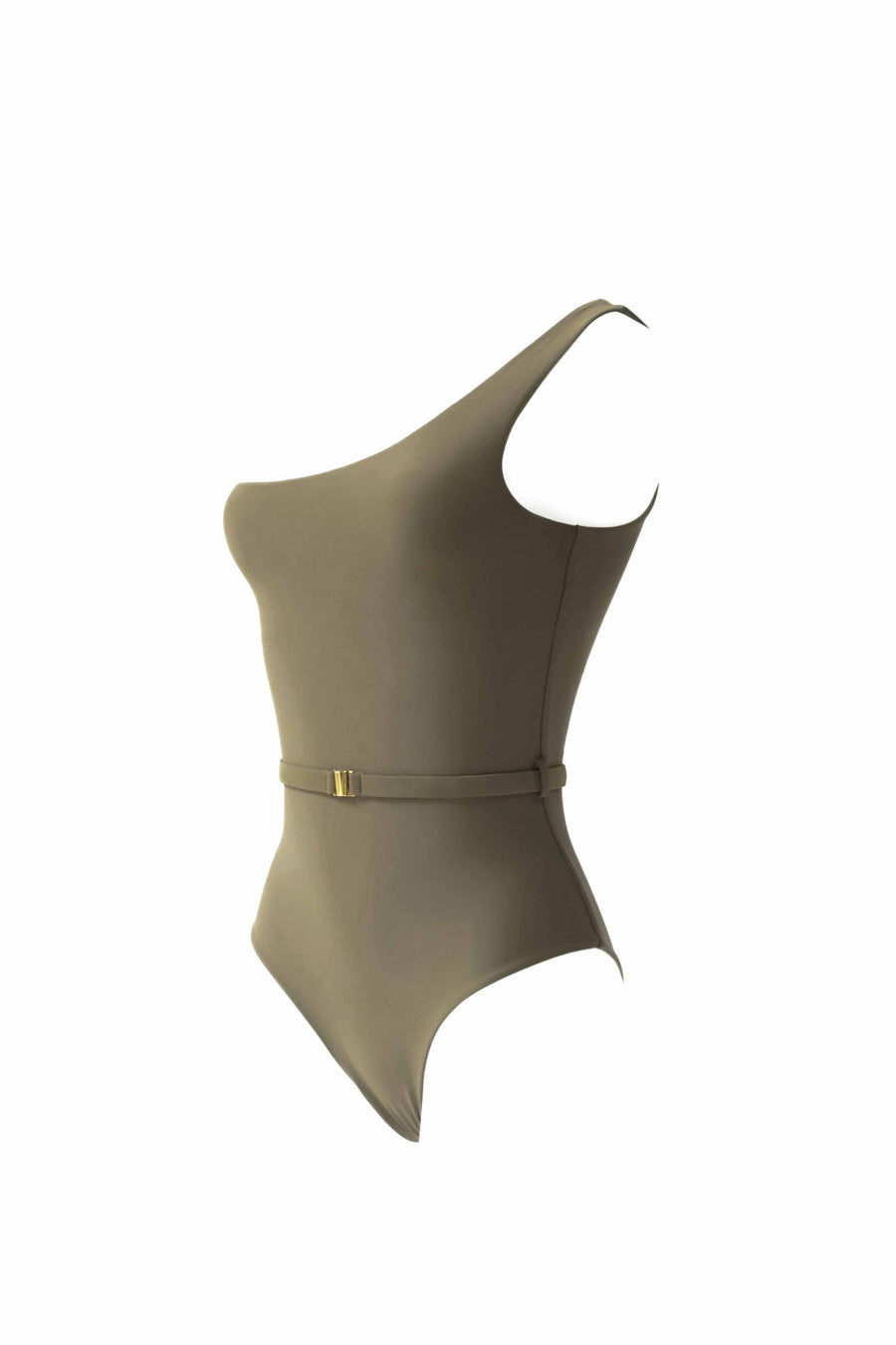 Asymmetrical Maillot - Olive