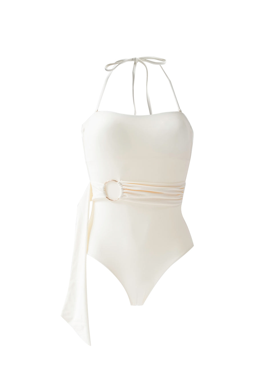 Belted Maillot - Cream