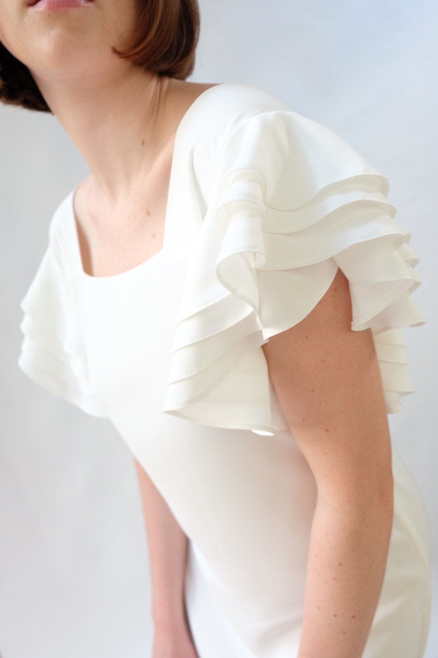 White Frilled Dress