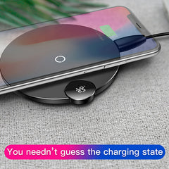 LED Digital Display Wireless Charger for iPhone