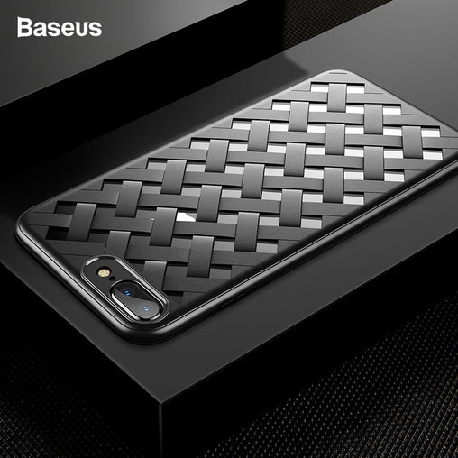 Baseus Luxury Weave Grid Case For iPhone
