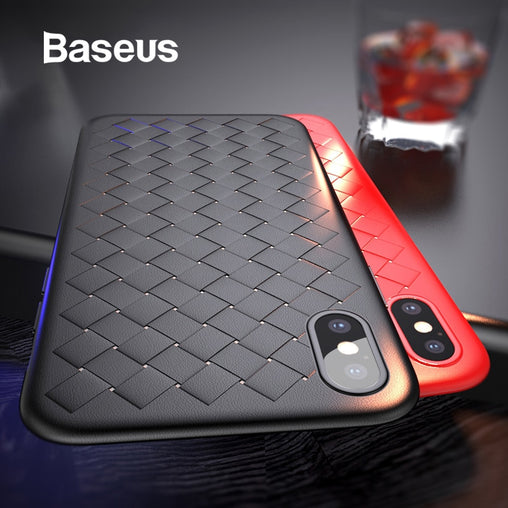 Baseus Luxury Grid Pattern Case For iPhone