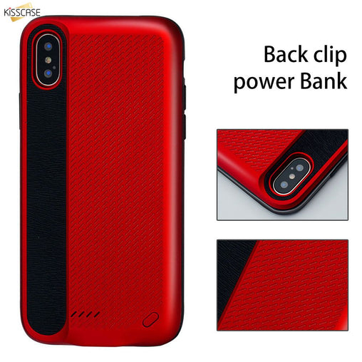 KISSCASE Back Clip Charging Treasure For iPhone Case